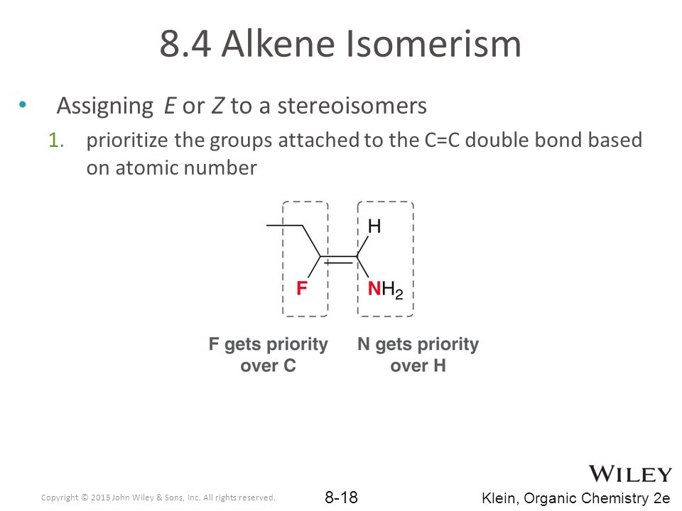 8.4 Alkene Isomerism Assigning E or Z to a stereoisomers