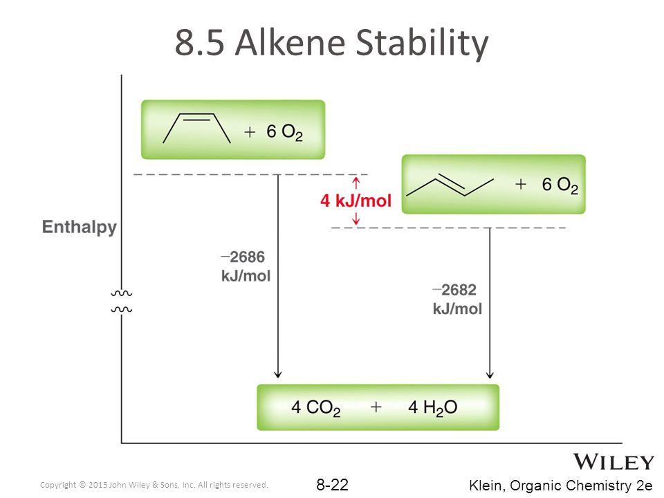 8.5 Alkene Stability Klein, Organic Chemistry 2e