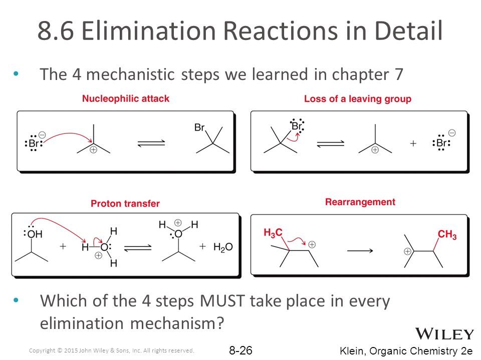 8.6 Elimination Reactions in Detail