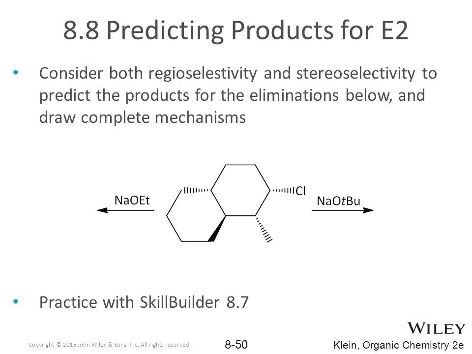 8.8 Predicting Products for E2