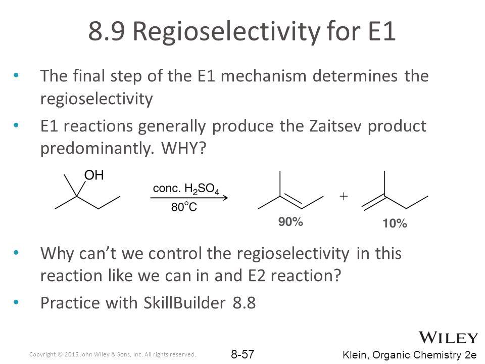8.9 Regioselectivity for E1