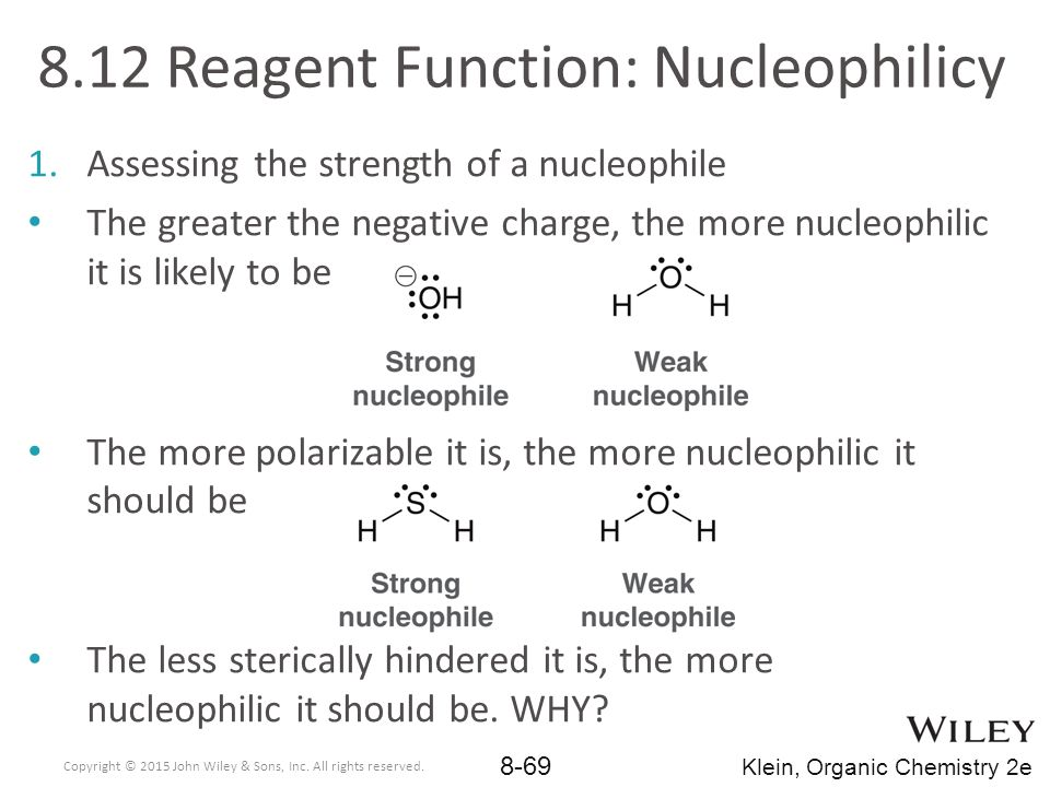 8.12 Reagent Function: Nucleophilicy