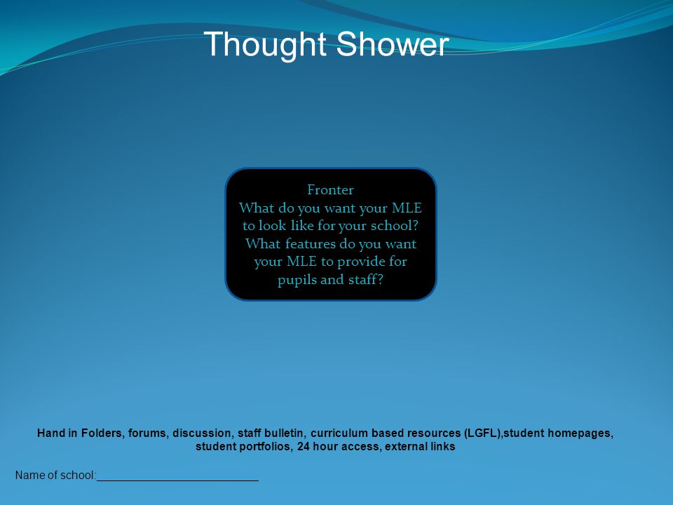Thought Shower Fronter