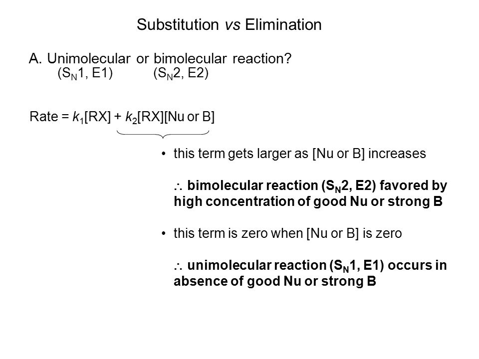 Substitution vs Elimination