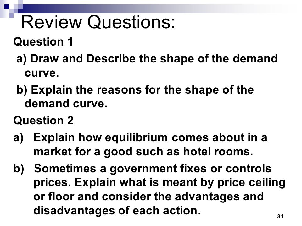 Review Questions: Question 1