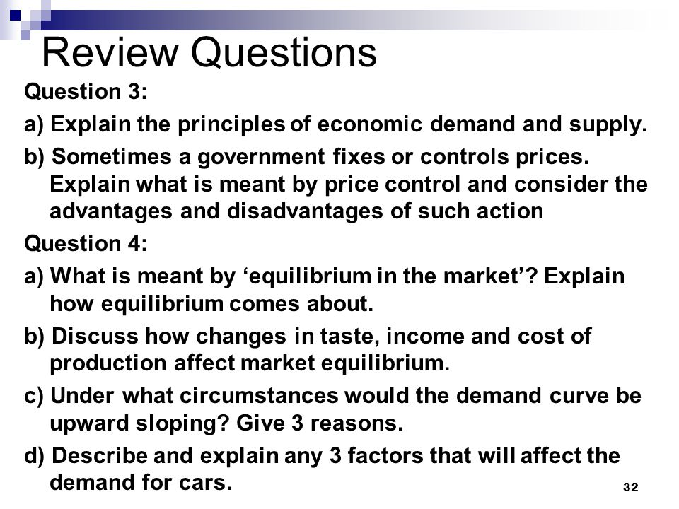 Review Questions Question 3: