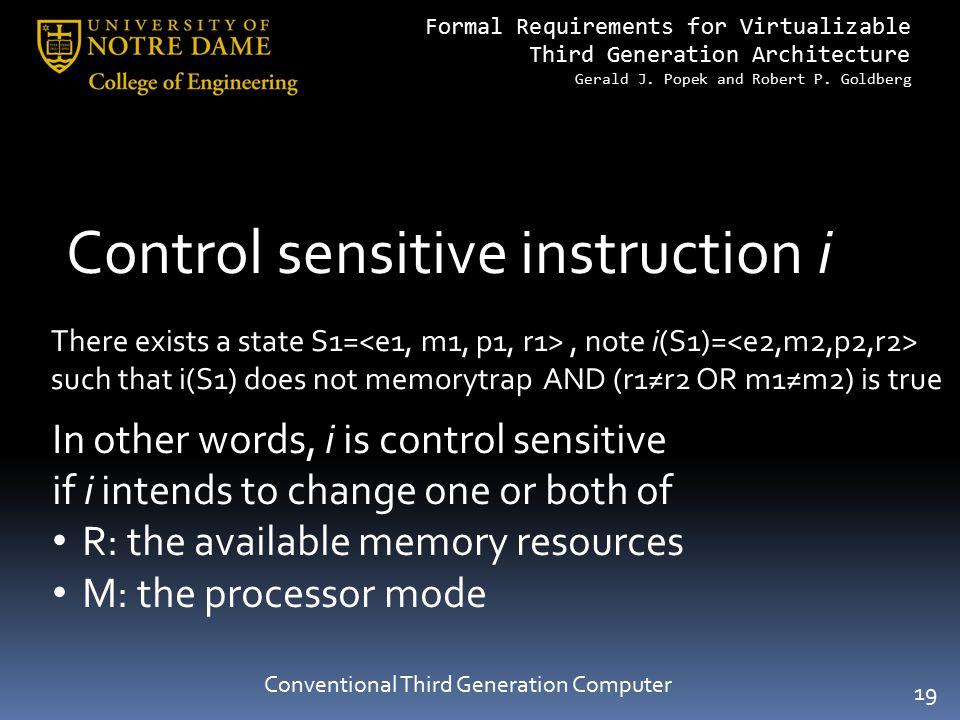 Conventional Third Generation Computer