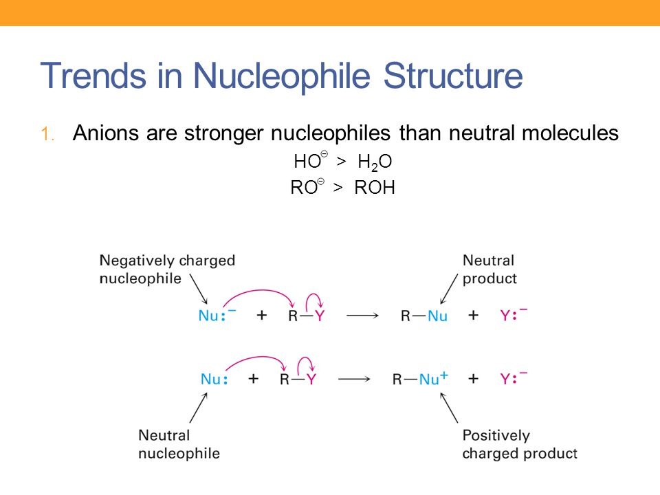 Trends in Nucleophile Structure