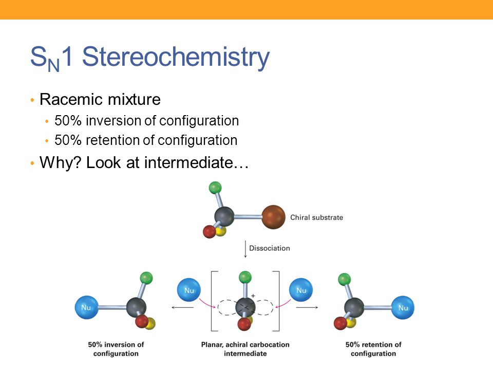 SN1 Stereochemistry Racemic mixture Why Look at intermediate…