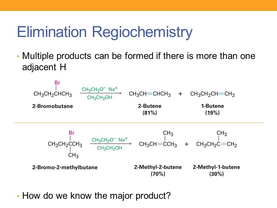 Elimination Regiochemistry