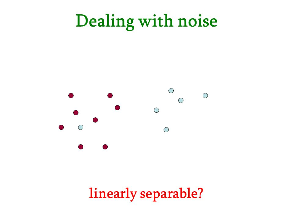 Dealing with noise linearly separable