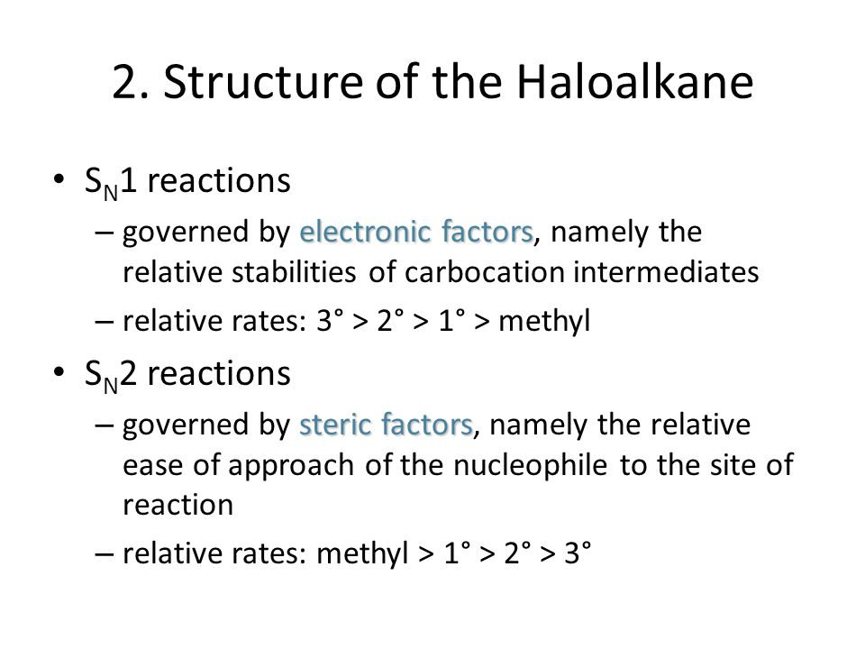 2. Structure of the Haloalkane
