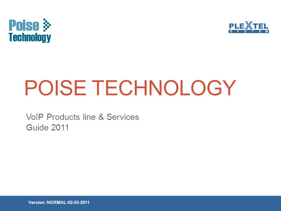 VoIP Products line & Services Guide 2011