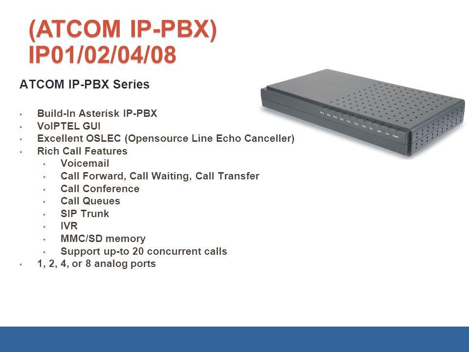 (ATCOM IP-PBX) IP01/02/04/08 ATCOM IP-PBX Series