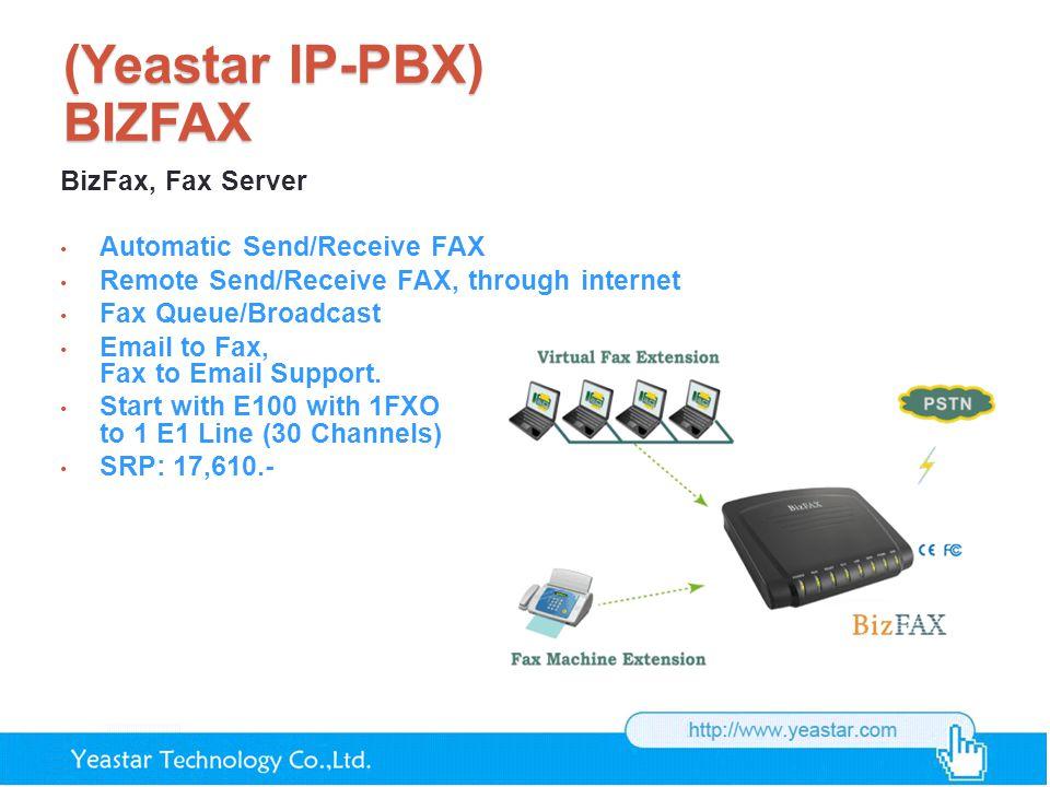 (Yeastar IP-PBX) BIZFAX BizFax, Fax Server Automatic Send/Receive FAX