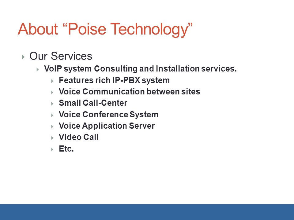 About Poise Technology