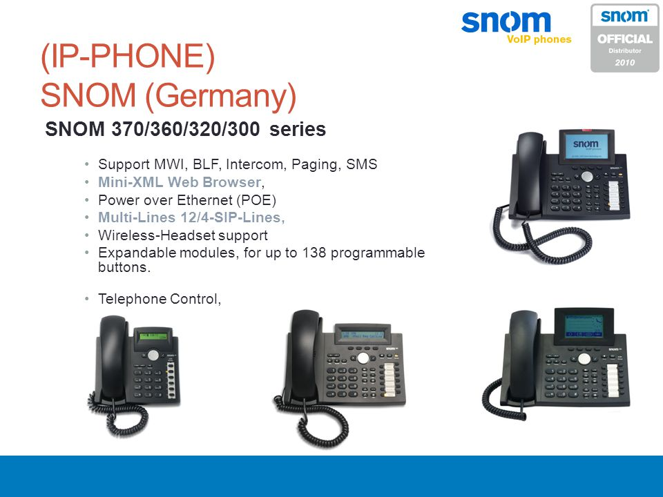 (IP-PHONE) SNOM (Germany)
