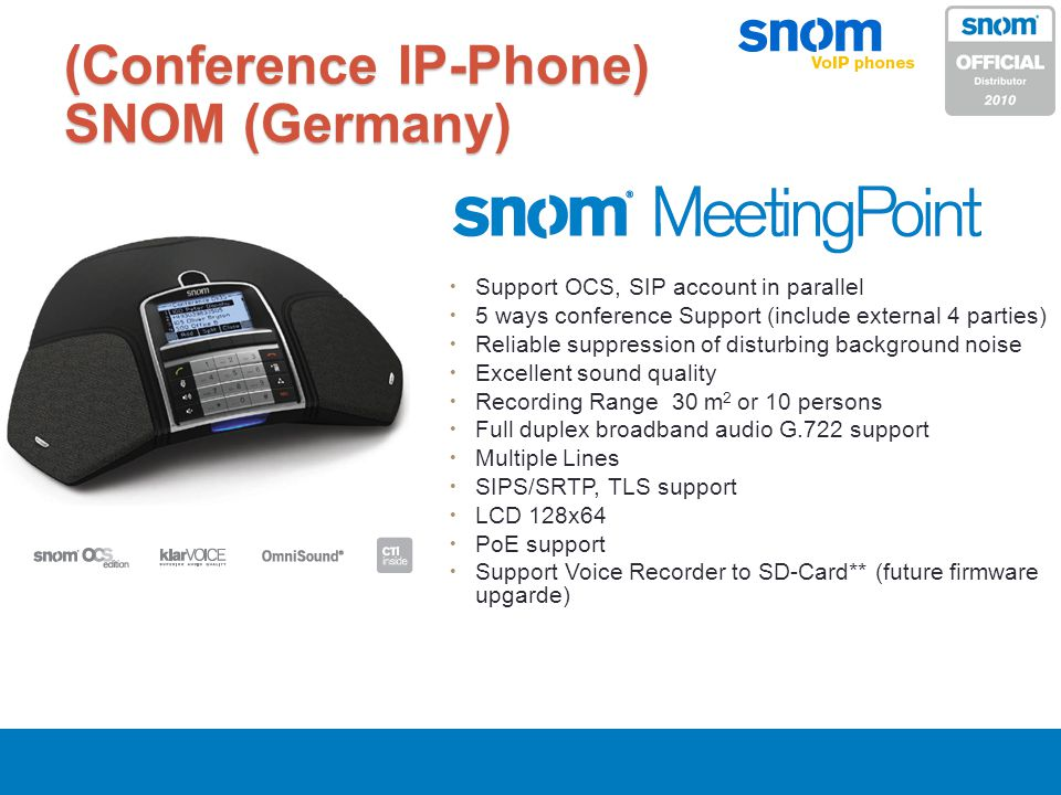 (Conference IP-Phone) SNOM (Germany)