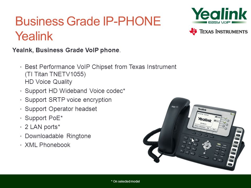 Business Grade IP-PHONE Yealink