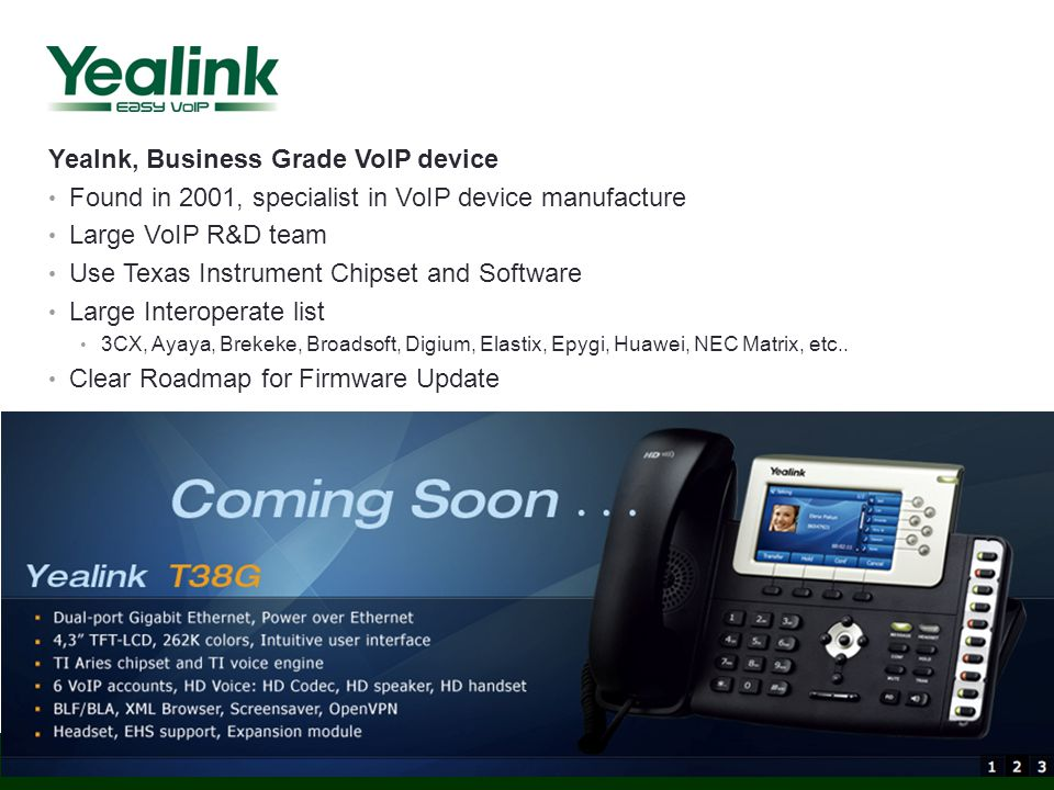 Yealnk, Business Grade VoIP device