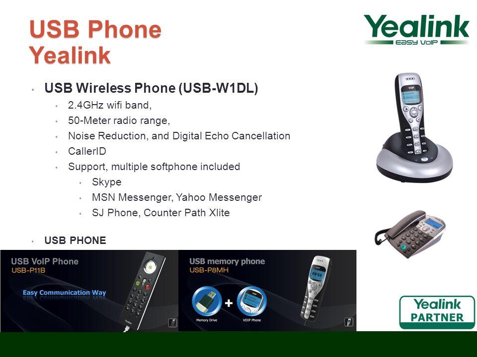USB Phone Yealink USB Wireless Phone (USB-W1DL) 2.4GHz wifi band,