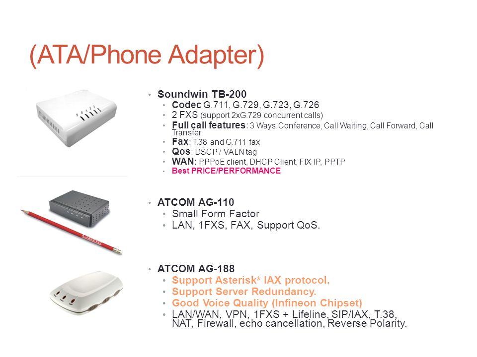(ATA/Phone Adapter) Soundwin TB-200 ATCOM AG-110 Small Form Factor