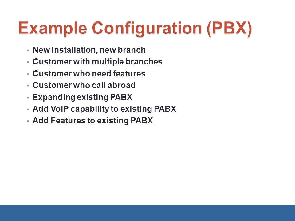 Example Configuration (PBX)