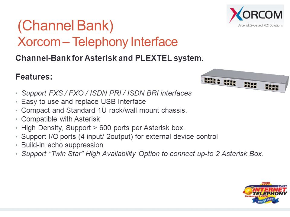(Channel Bank) Xorcom – Telephony Interface