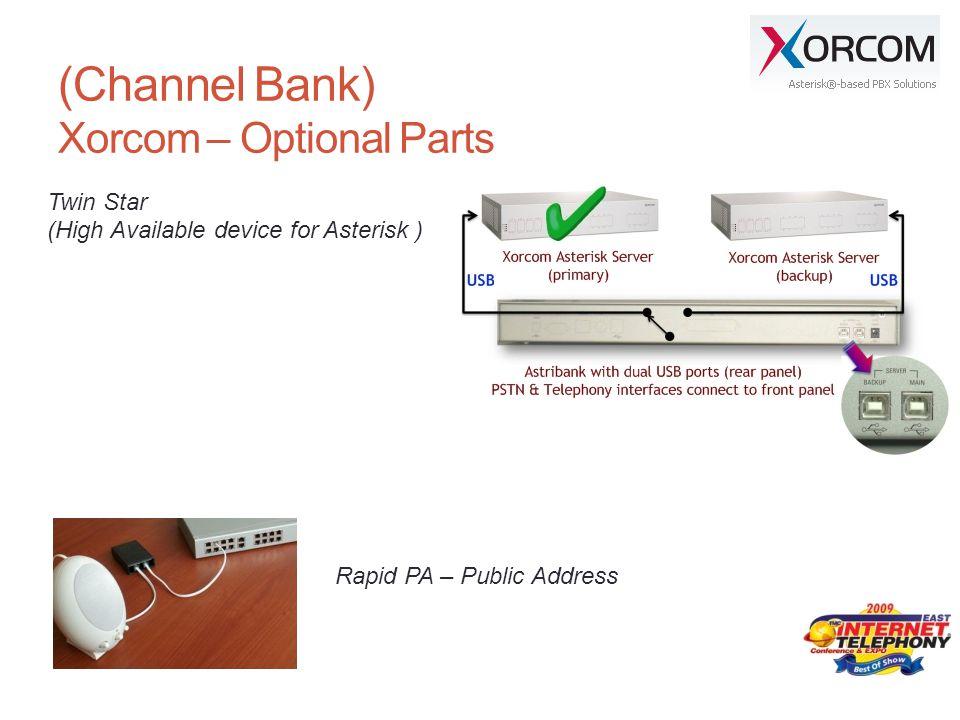 (Channel Bank) Xorcom – Optional Parts
