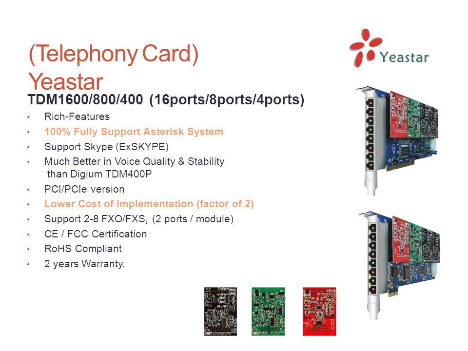 (Telephony Card) Yeastar