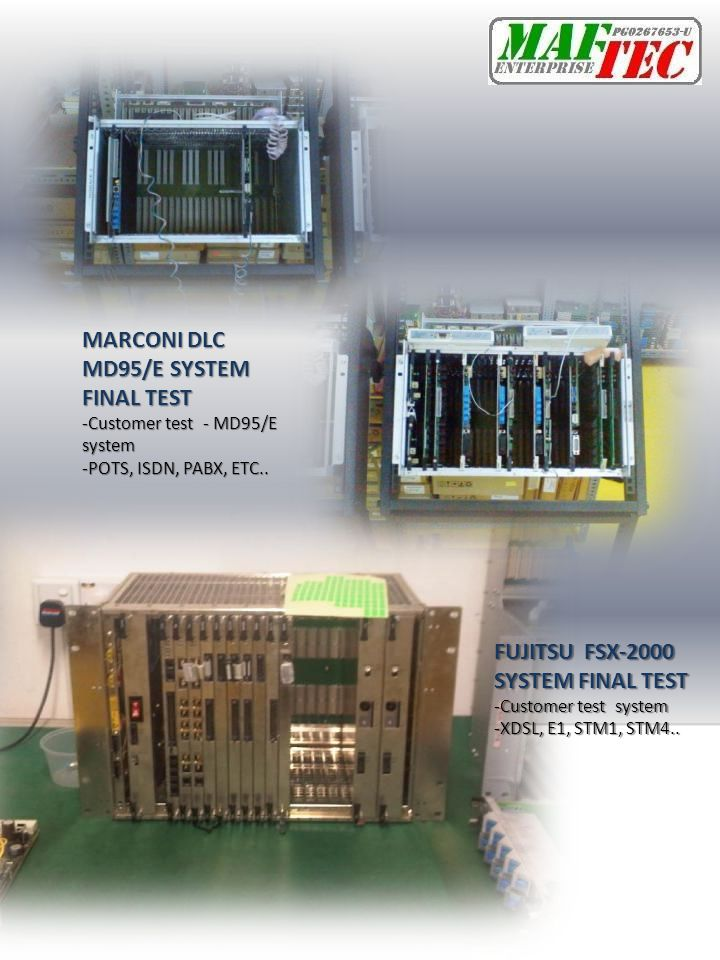 MARCONI DLC MD95/E SYSTEM FINAL TEST