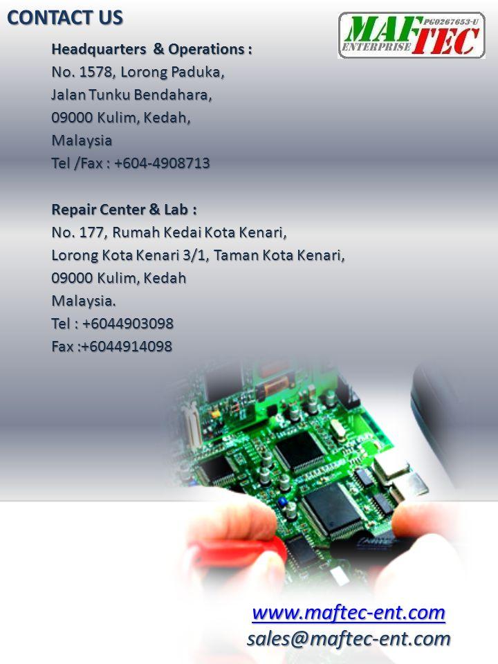 CONTACT US www.maftec-ent.com sales@maftec-ent.com