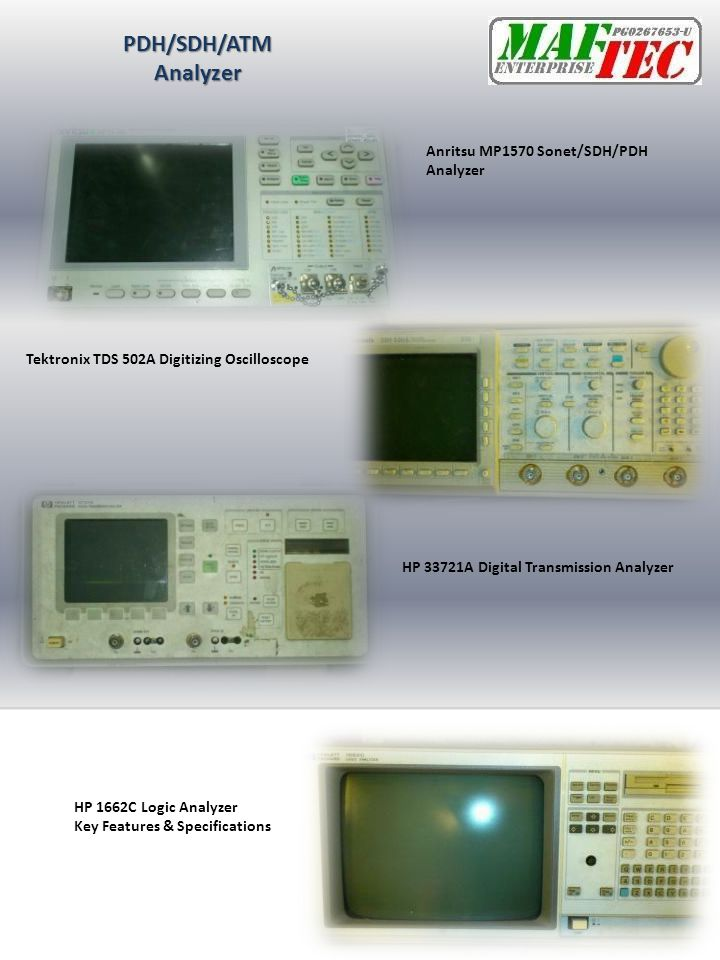 PDH/SDH/ATM Analyzer Anritsu MP1570 Sonet/SDH/PDH Analyzer