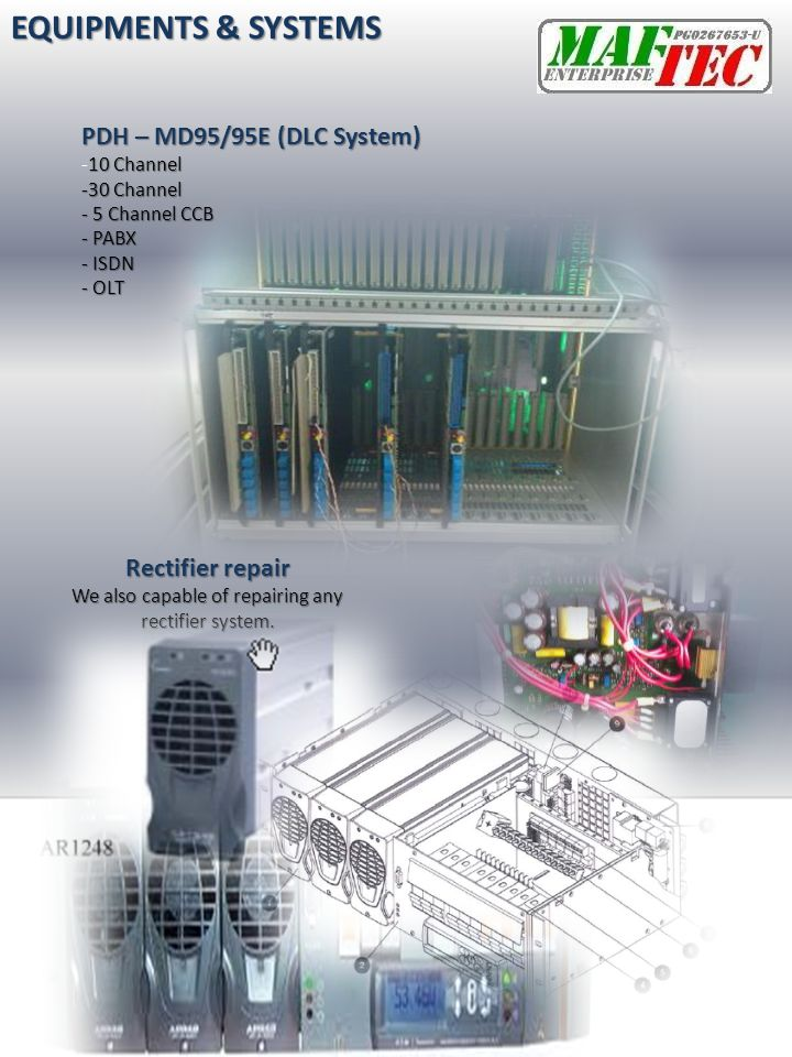 We also capable of repairing any rectifier system.