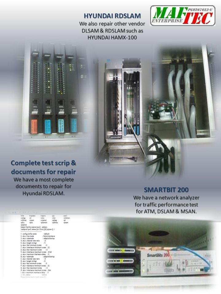 Complete test scrip & documents for repair