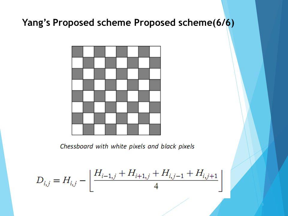 Yang's Proposed scheme Proposed scheme(6/6)