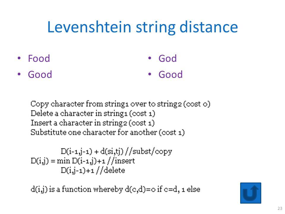 Levenshtein string distance