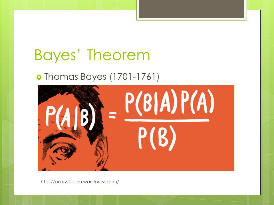 Bayes' Theorem Thomas Bayes (1701-1761)