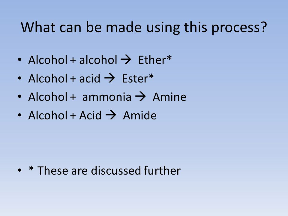 What can be made using this process