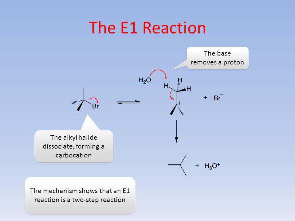 The E1 Reaction The base removes a proton