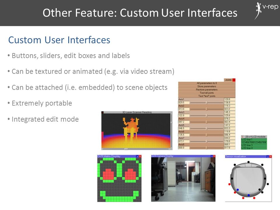Other Feature: Custom User Interfaces