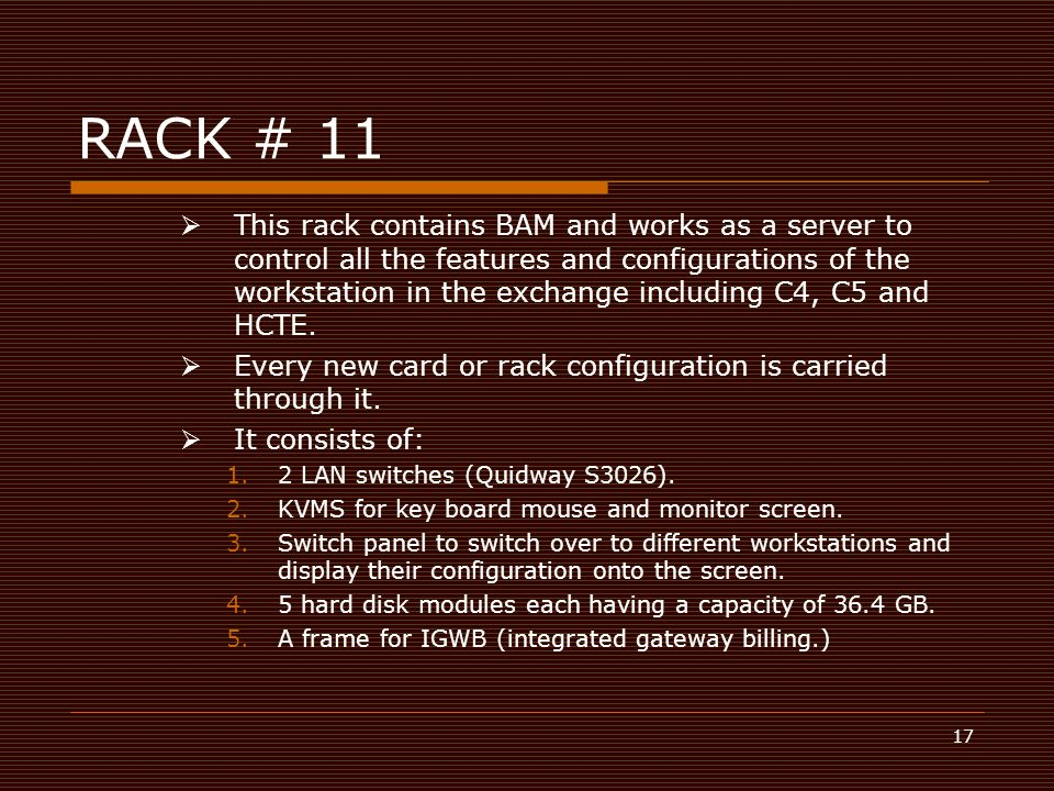 RACK # 11