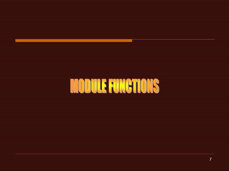 MODULE FUNCTIONS