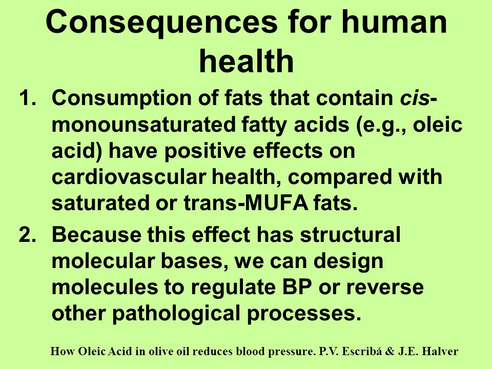 Consequences for human health