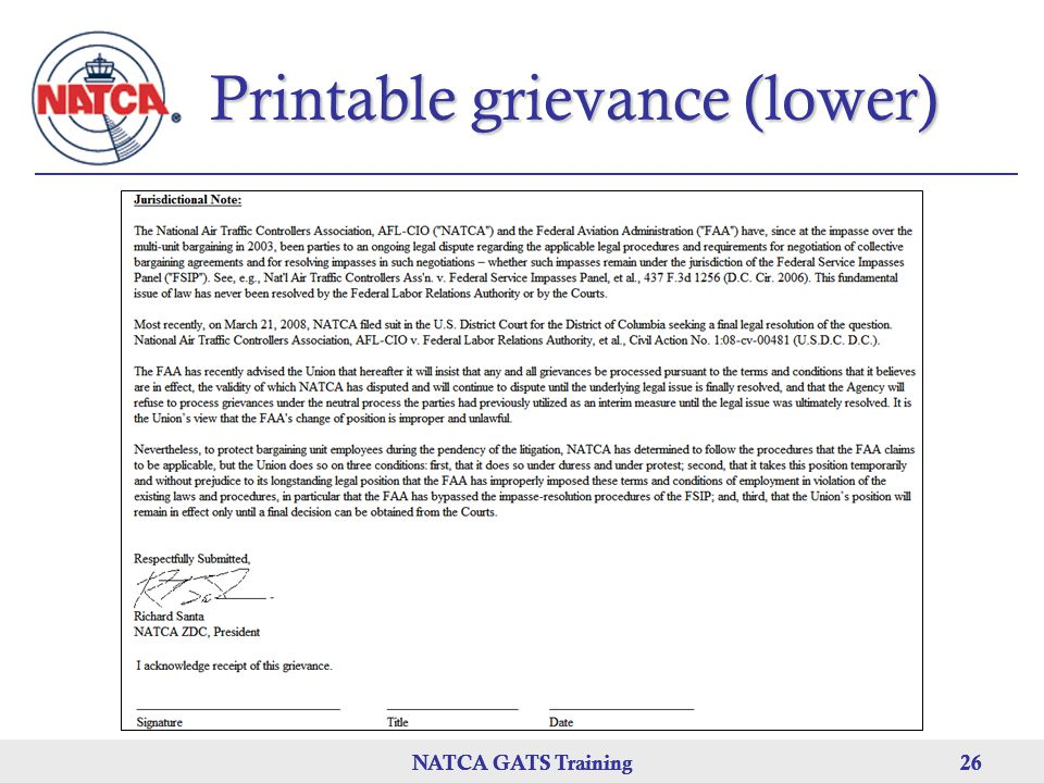 Printable grievance (lower)