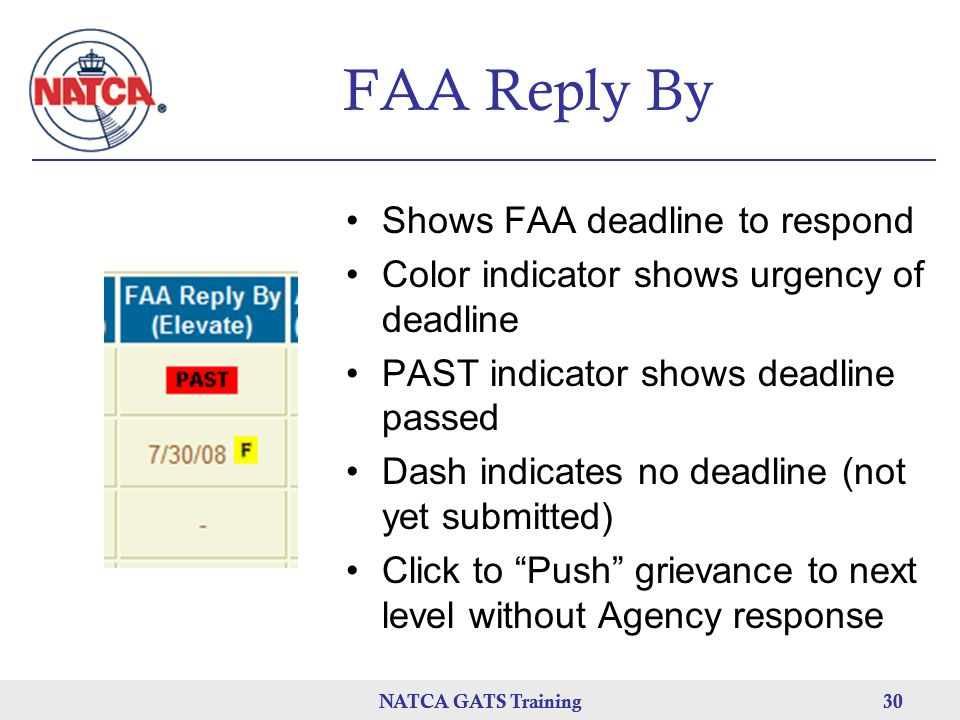 FAA Reply By Shows FAA deadline to respond