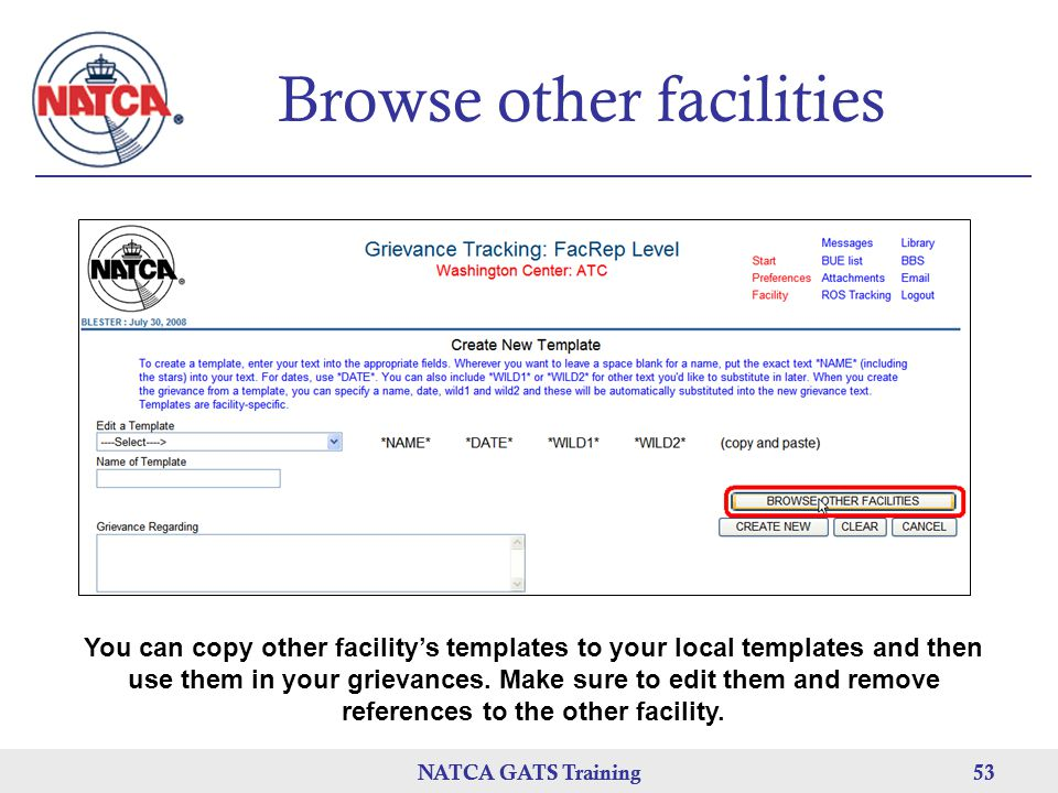 Browse other facilities