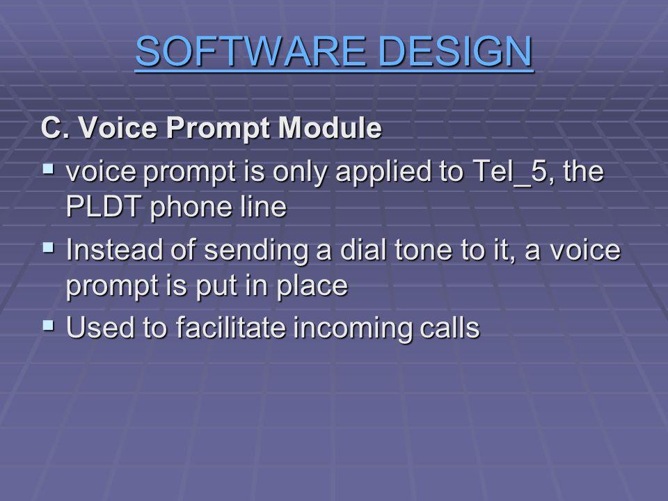 SOFTWARE DESIGN C. Voice Prompt Module