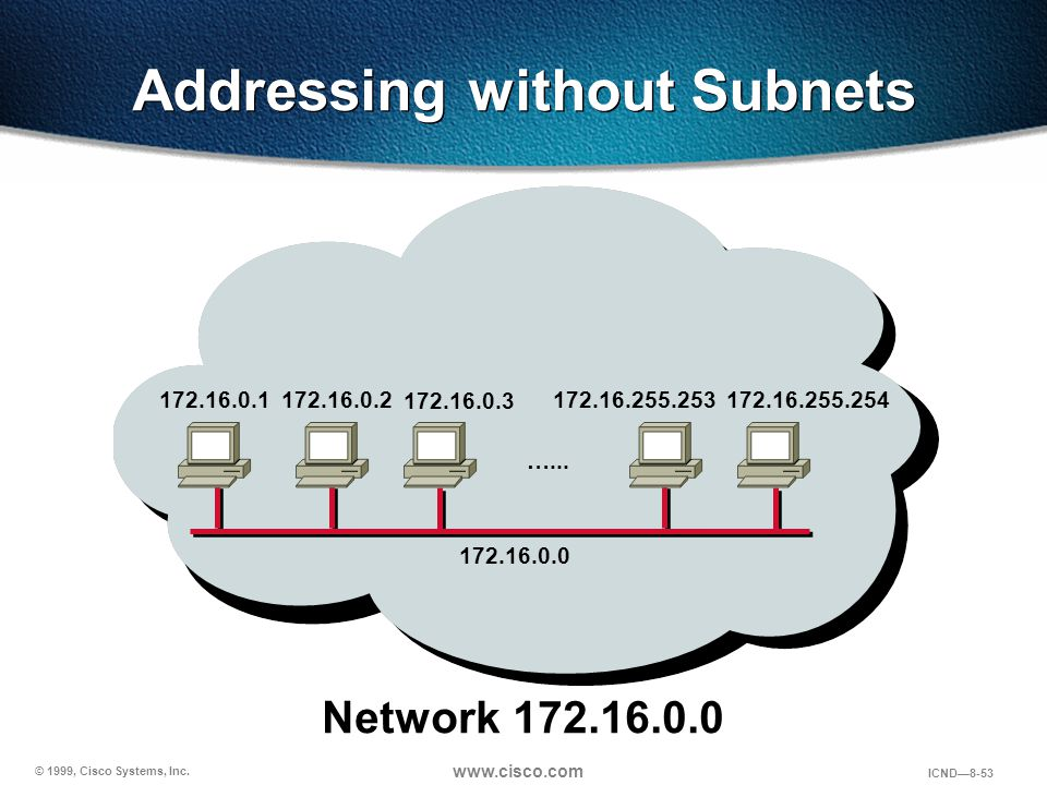Addressing without Subnets