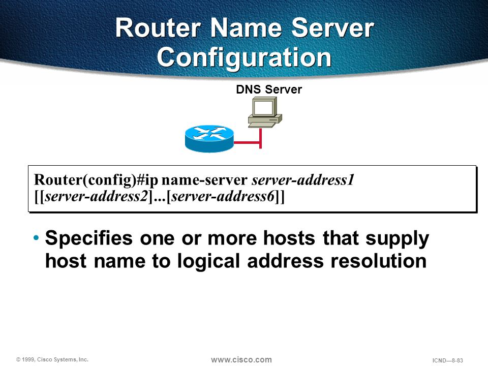Router Name Server Configuration